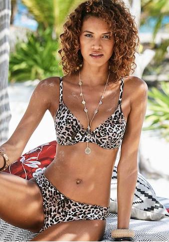 LASCANA Bügel-Bikini-Top »Lexa«, mit Wattierung und Muschelkante kaufen
