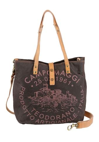 Campomaggi Shopper »Genziana«, mit großem Logo Print kaufen