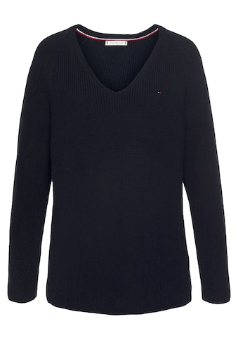 Tommy Hilfiger Curve V-Ausschnitt-Pullover »CRV ORG CO STRUCTURE V-NK SWT«, in... kaufen
