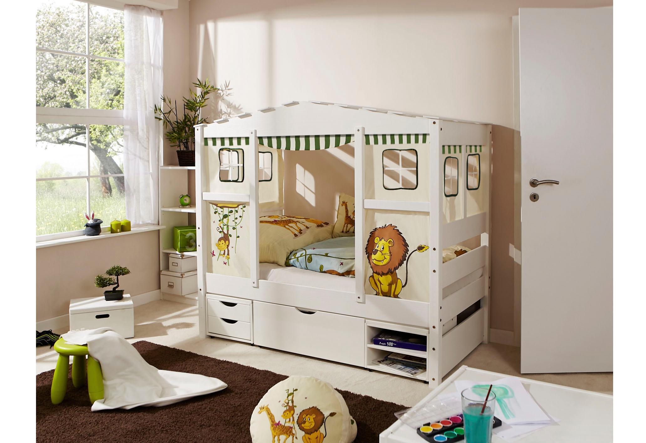 Ticaa Hausbett Lio bunt Kinder Kinderbetten Kindermöbel