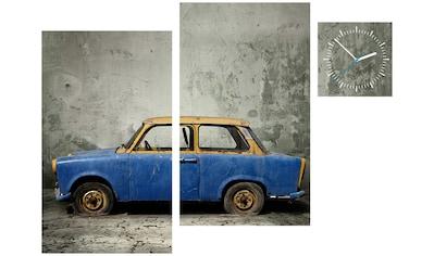 Conni Oberkircher´s Bild »Trabant«, Fahrzeuge, (Set), mit dekorativer Uhr kaufen
