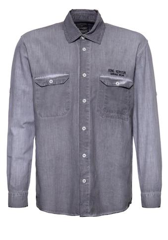 KingKerosin Langarmhemd »Zombie Garage«, mit Stickereien und Oilwash-Effekt kaufen