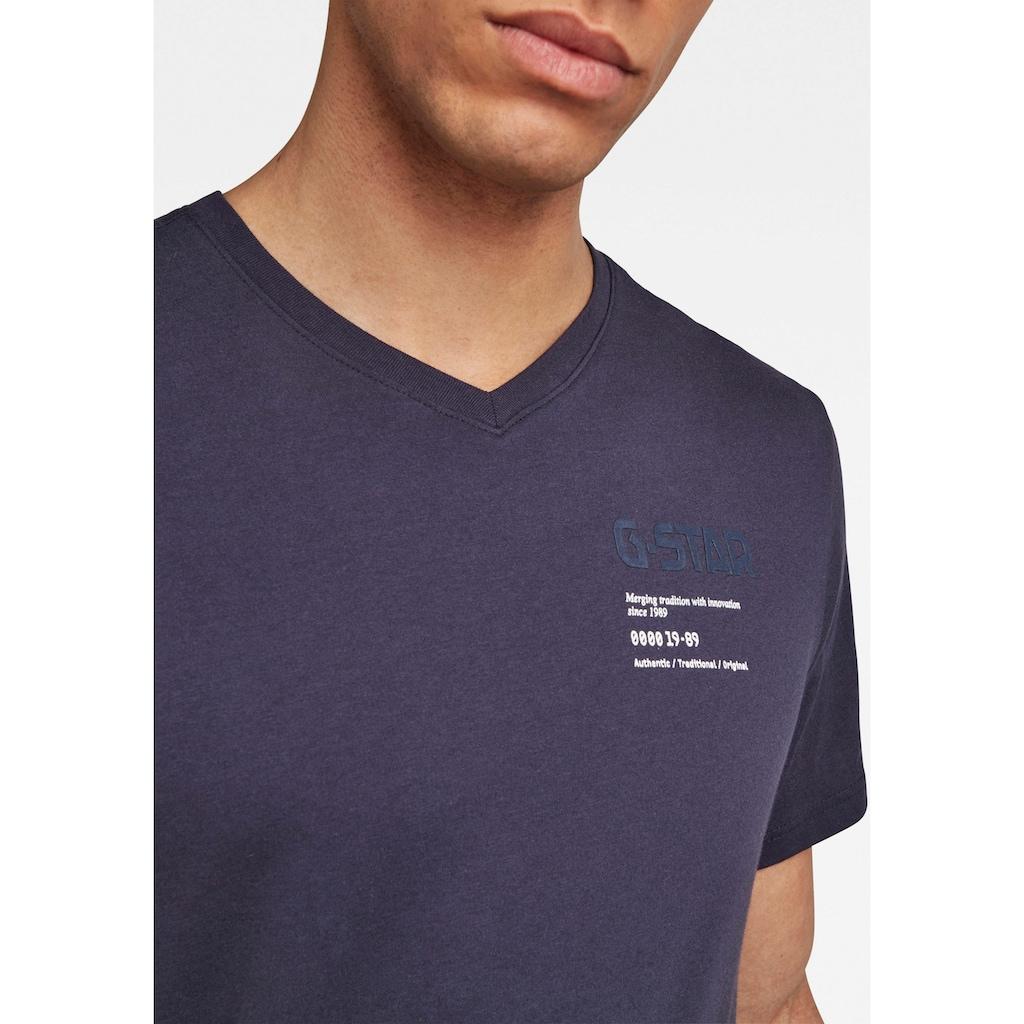G-Star RAW V-Shirt »,G-star Chest Graphic Slim v t«