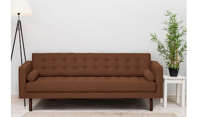 GEPADE 3-Sitzer, Breite 300 cm, inkl. Kissenrollen, mit wengefarbenen Holzfüße kaufen