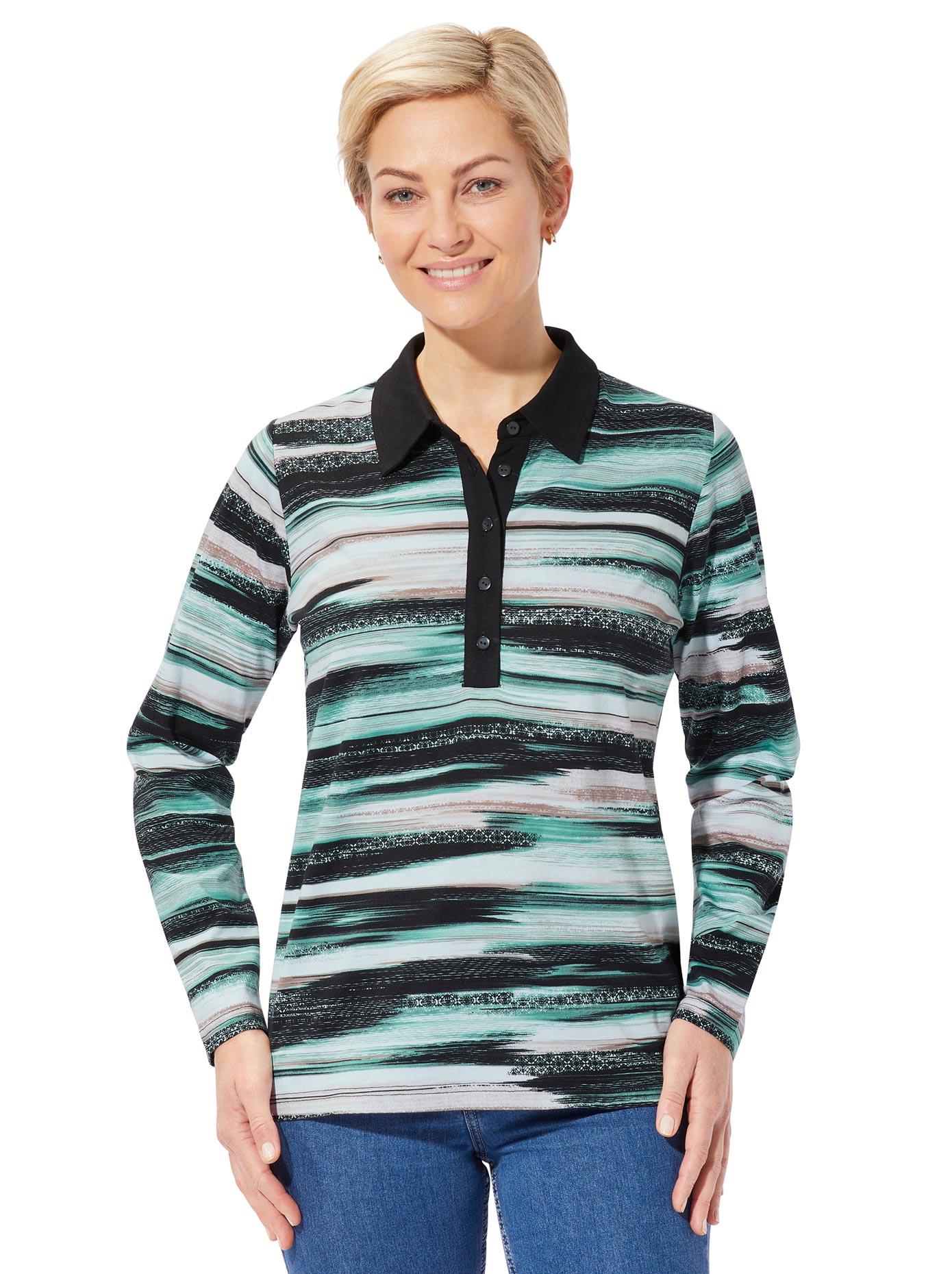 casual looks -  Langarm-Poloshirt
