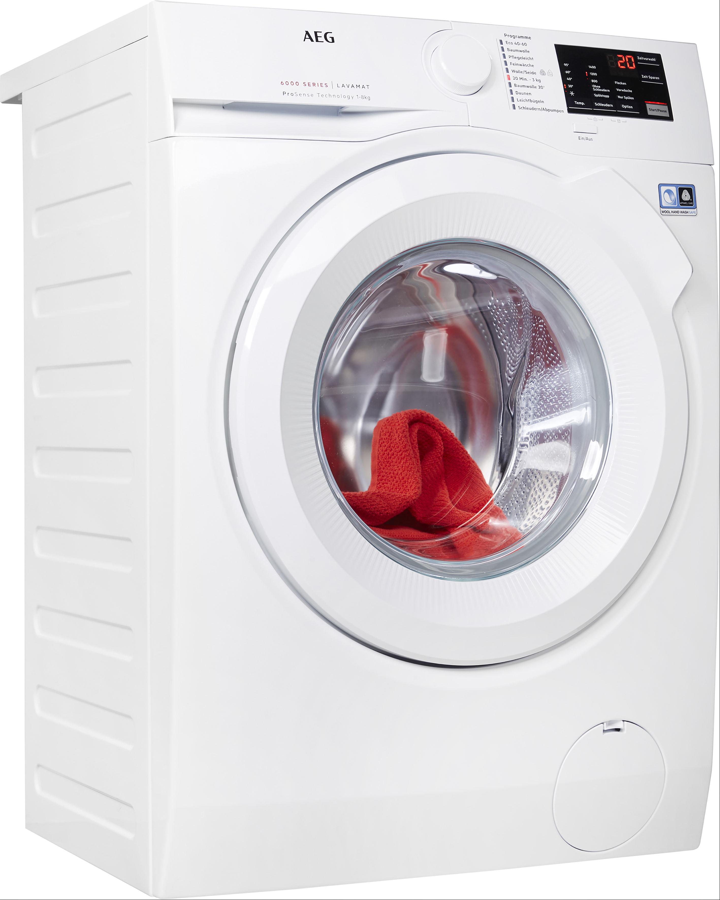 AEG Waschmaschine, L6FBA5480 EEK A+++ weiß Waschmaschinen Haushaltsgeräte Waschmaschine