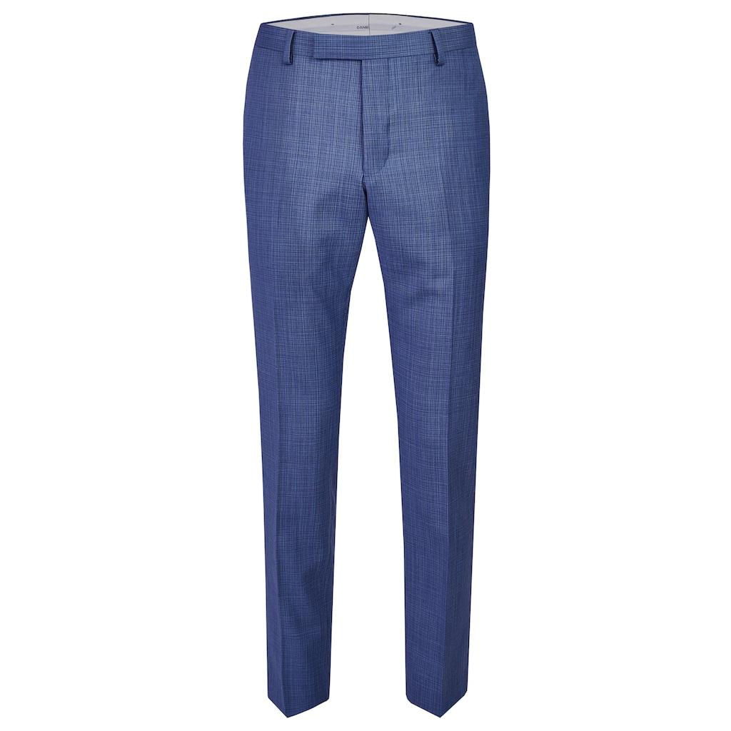 Daniel Hechter Edle Anzug-Hose mit elegantem minimal Karo