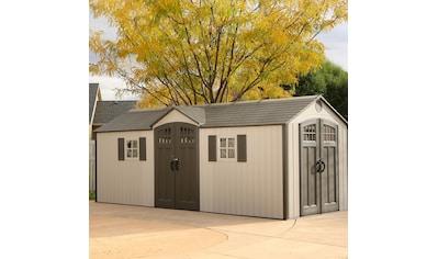 LIFETIME Set: Kunststoffhaus »Makro«, BxT: 605x244 cm, inkl. Fußboden, Regale und Werkzeugtasche kaufen
