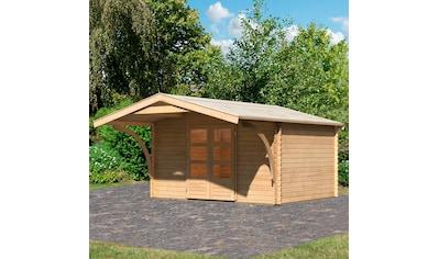 WOODFEELING Set: Gartenhaus »Bayreuth 5«, BxT: 406x472 cm, mit Vordach kaufen