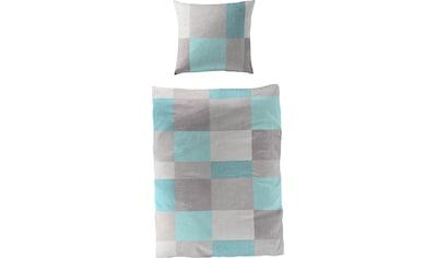 BIERBAUM Bettwäsche »Plain Checkered«, 100 % Baumwolle, Bio-Mako-Satin Qualität kaufen