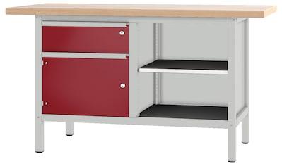 PADOR Werkbank »21 S 25/15 R«, B/T/H: 150x70x85,5 cm kaufen
