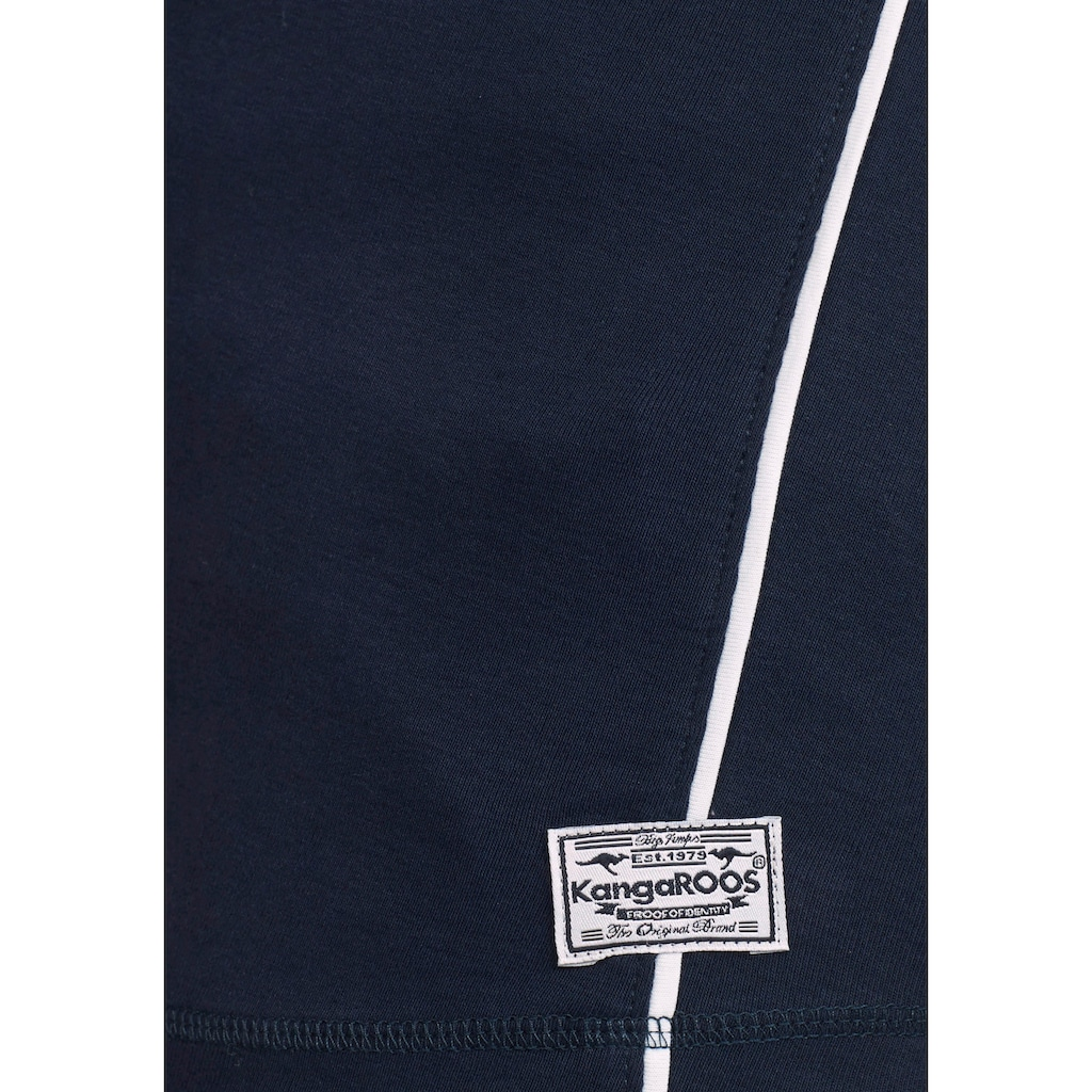 KangaROOS Langarmshirt, mit Print Vorne und an Ärmeln