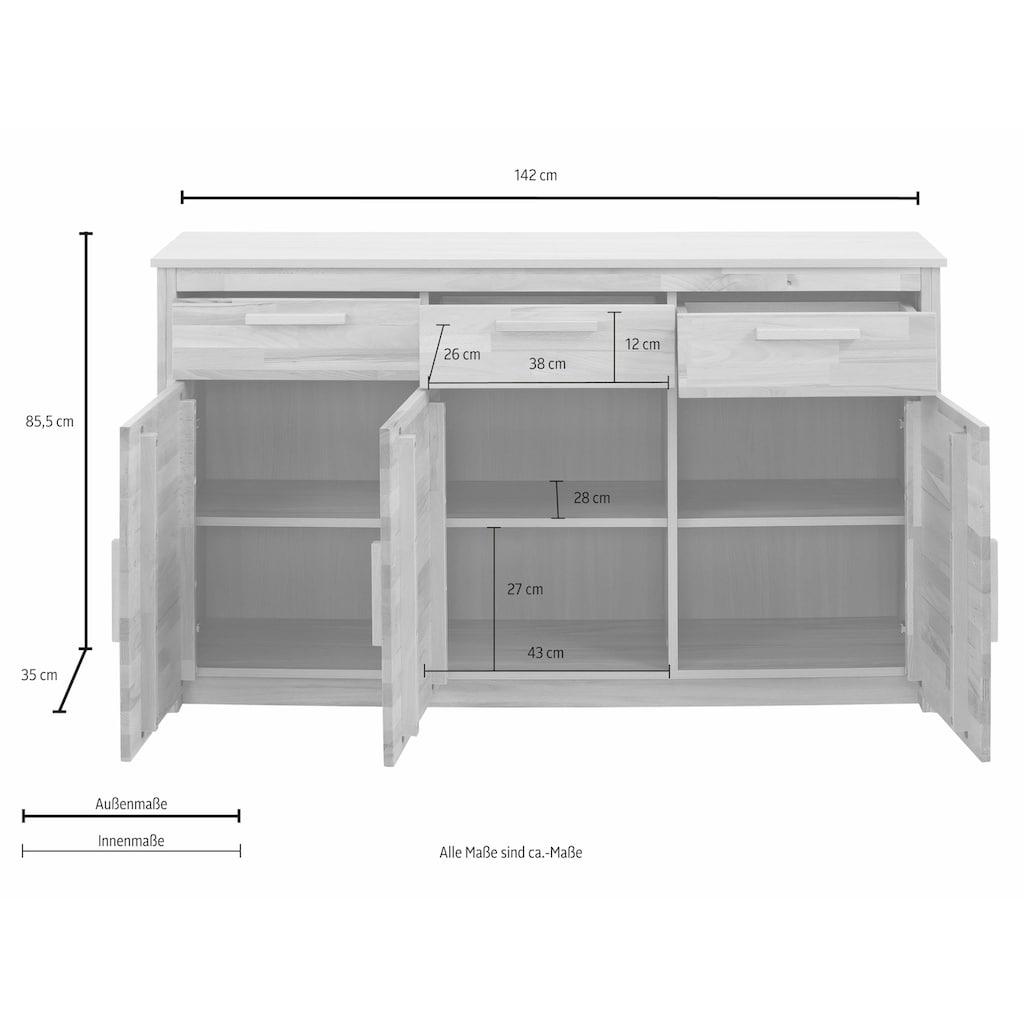Home affaire Sideboard »Bregenz«, Breite 142 cm