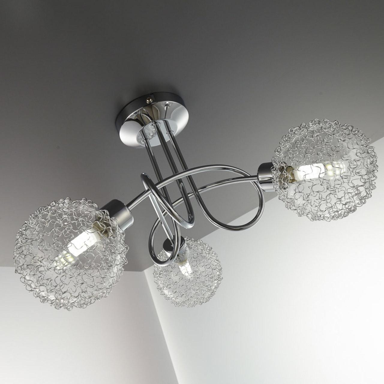 B.K.Licht LED Deckenspot Lepus, G9, Warmweiß, LED Deckenleuchte schwenkbare Spots Draht inkl. 3,5W 250lm G9 3.000K Deckenlampe