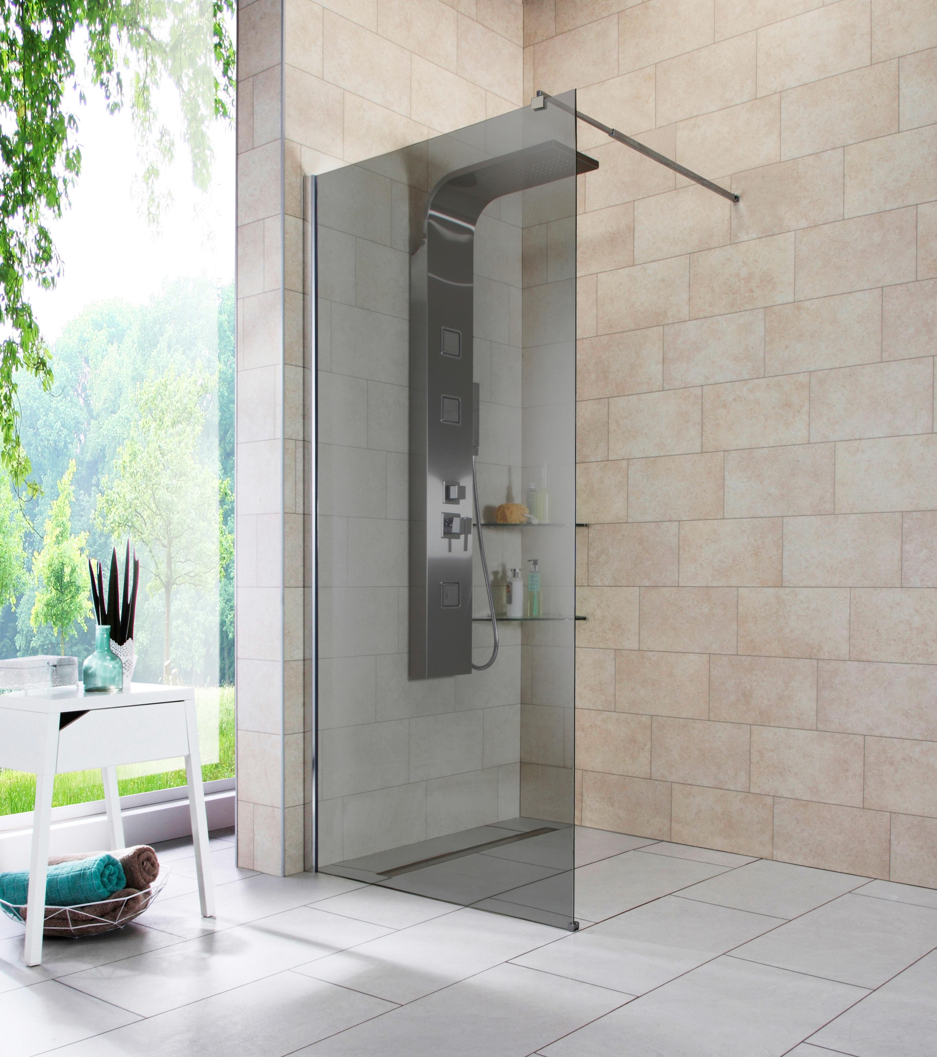 Walk-In Dusche »Duschabtrennung«, Breite 90 cm, Grauglas per Rechnung   BAUR