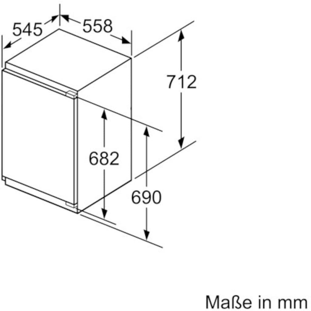 BOSCH Einbaugefrierschrank »GIV11AFE0«, 6, 71,2 cm hoch, 55,8 cm breit