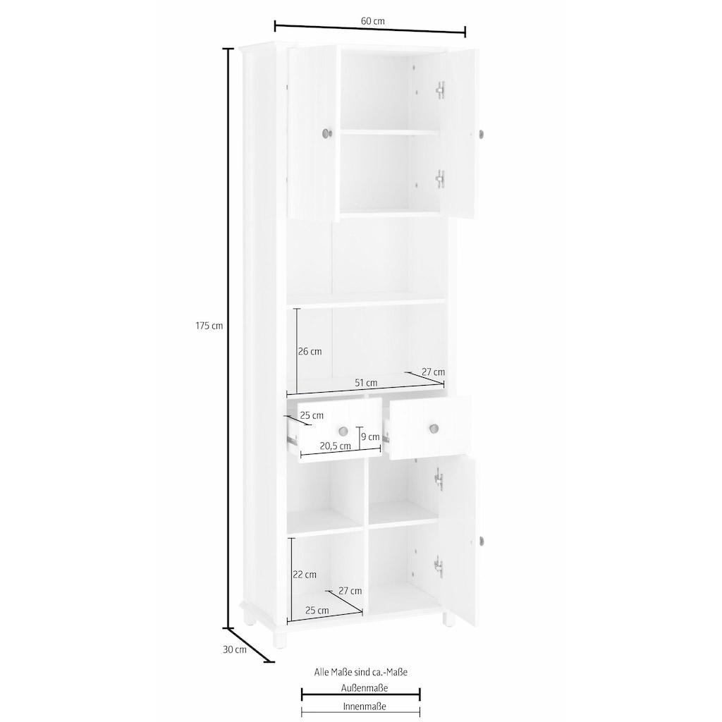 Home affaire Hochschrank »Vili«, Breite 60 cm, 2 Schubkästen, 3 Türen