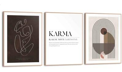 Reinders! Wandbild »Abstrakt Linien - Formen - Frau - Karma«, (3 St.) kaufen
