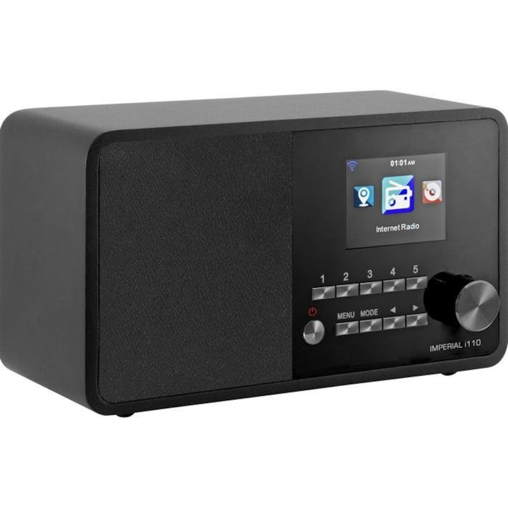 IMPERIAL by TELESTAR Internet-Radio »i110«, (WLAN-CD Internetradio ), TFT Farbdisplay-(USB, WLAN, TFT Farbdisplay; Wecker)