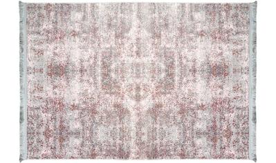 RESITAL The Voice of Carpet Teppich »Lucca 6005«, rechteckig, 5 mm Höhe, gewebt, leichter Glanzeffekt, mit Fransen, Wohnzimmer kaufen