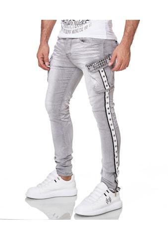 KINGZ Slim-fit-Jeans, mit schöner Waschung kaufen