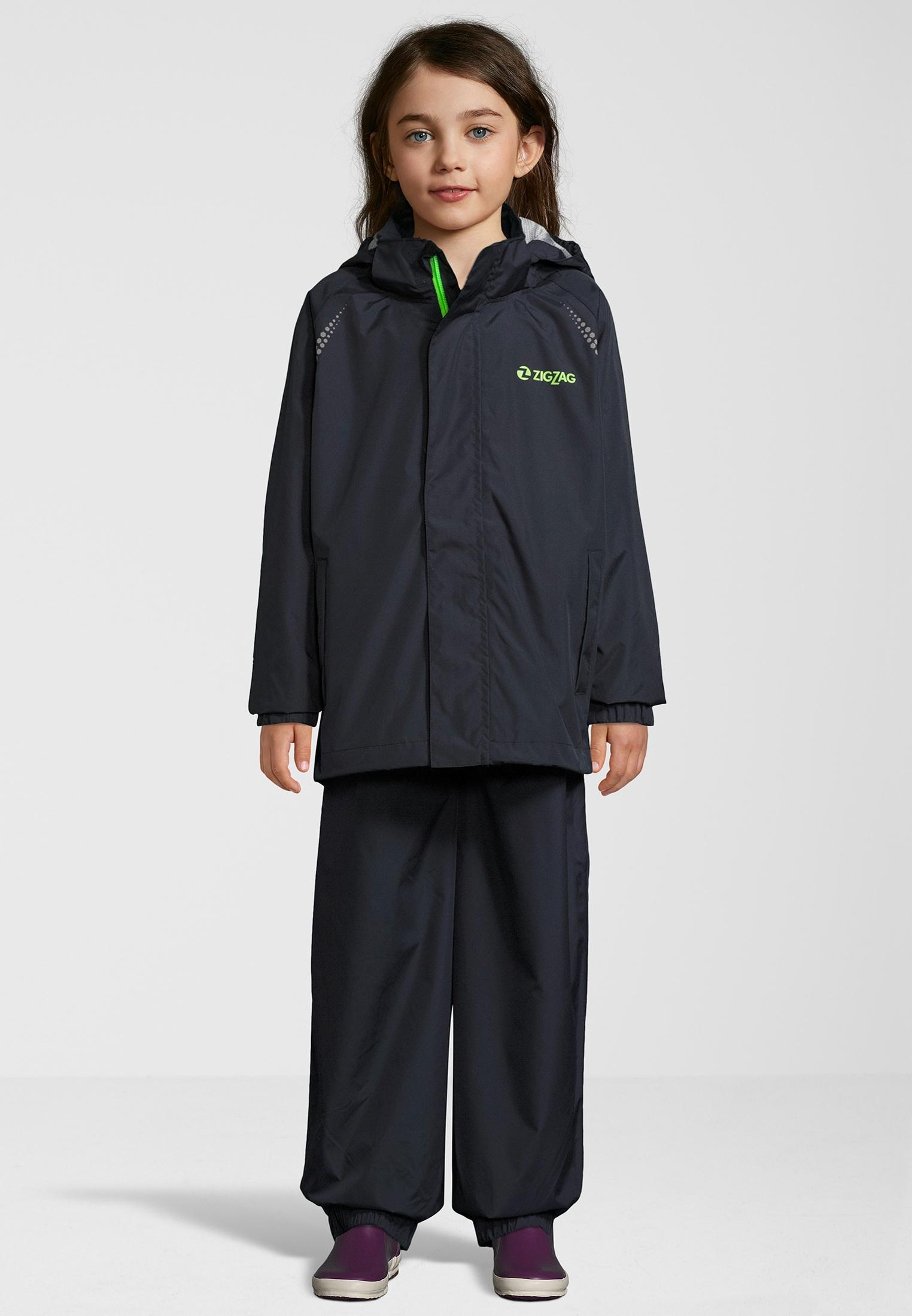ZIGZAG Regenanzug Ophir W, W-PRO 10000 schwarz Kinder Regenanzüge Regenbekleidung Jungenkleidung 5712119009816