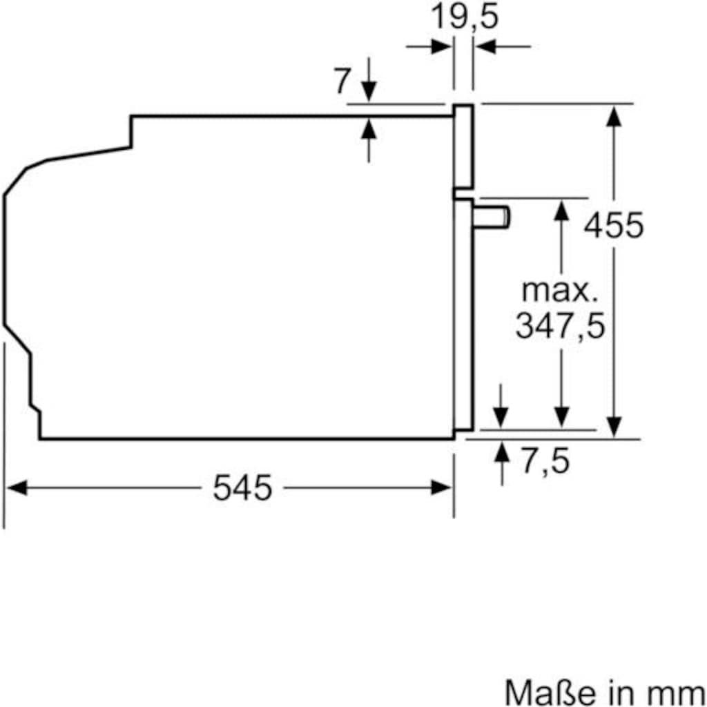 SIEMENS Einbau-Mikrowelle »CF634AGS1«, Mikrowelle, 900 W