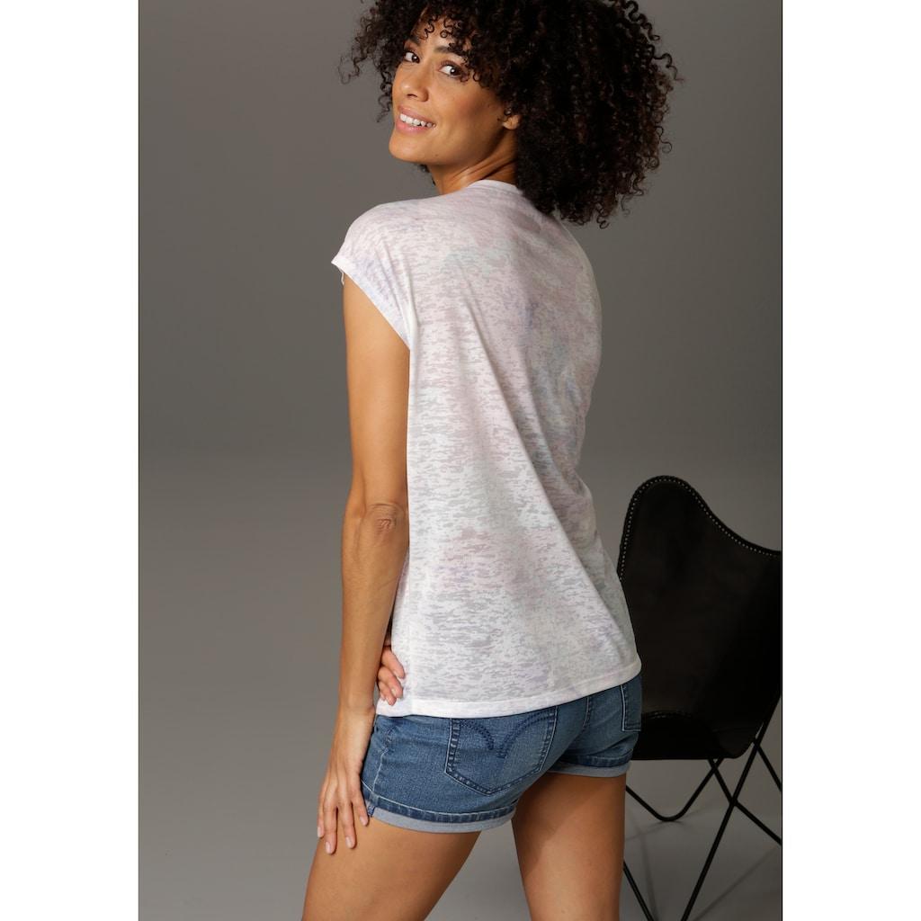 "Aniston CASUAL T-Shirt, für ""blumige"" Tage"