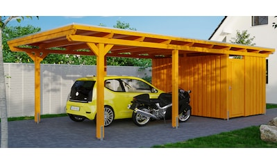 SKANHOLZ Einzelcarport »Emsland«, BxT: 404x846 cm, mit Abstellraum kaufen