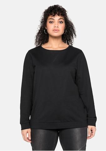 Sheego Sweatshirt, mit seitlichen Reißverschlüssen kaufen