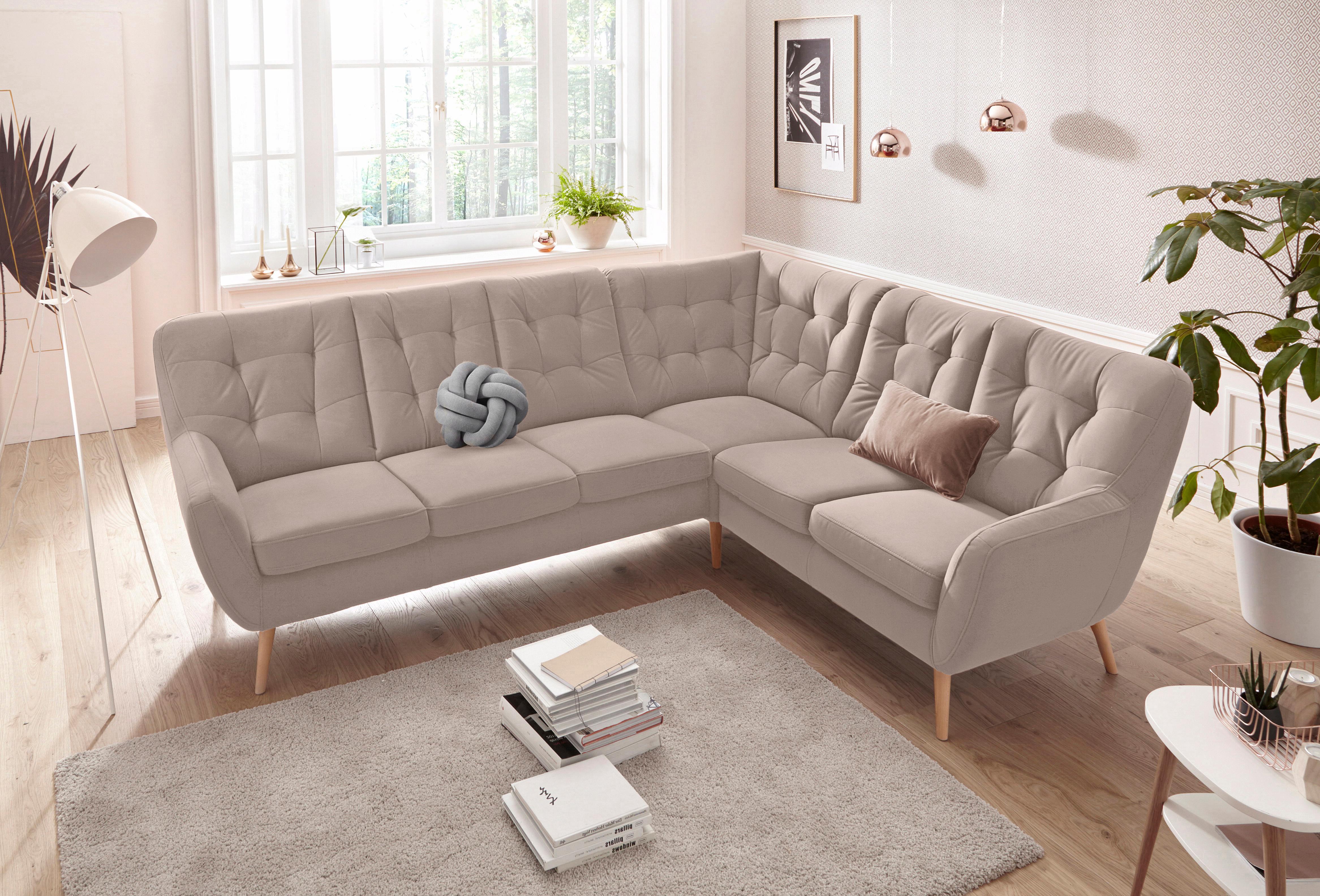 exxpo - sofa fashion Polsterecke | Wohnzimmer > Sofas & Couches > Ecksofas & Eckcouches | Massiv - Holz - Microfaser | EXXPO SOFA FASHION