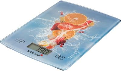 KORONA Küchenwaage »70211JULE«, Glaswaage mit Obst-Motiv kaufen