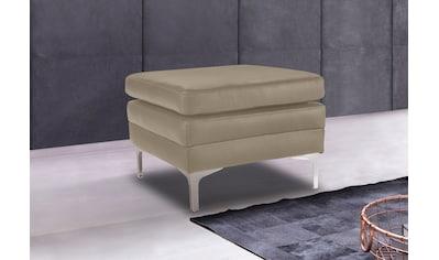 Places of Style Hocker »Twigo« in Echtleder, mit hohem Sitzkomfort kaufen