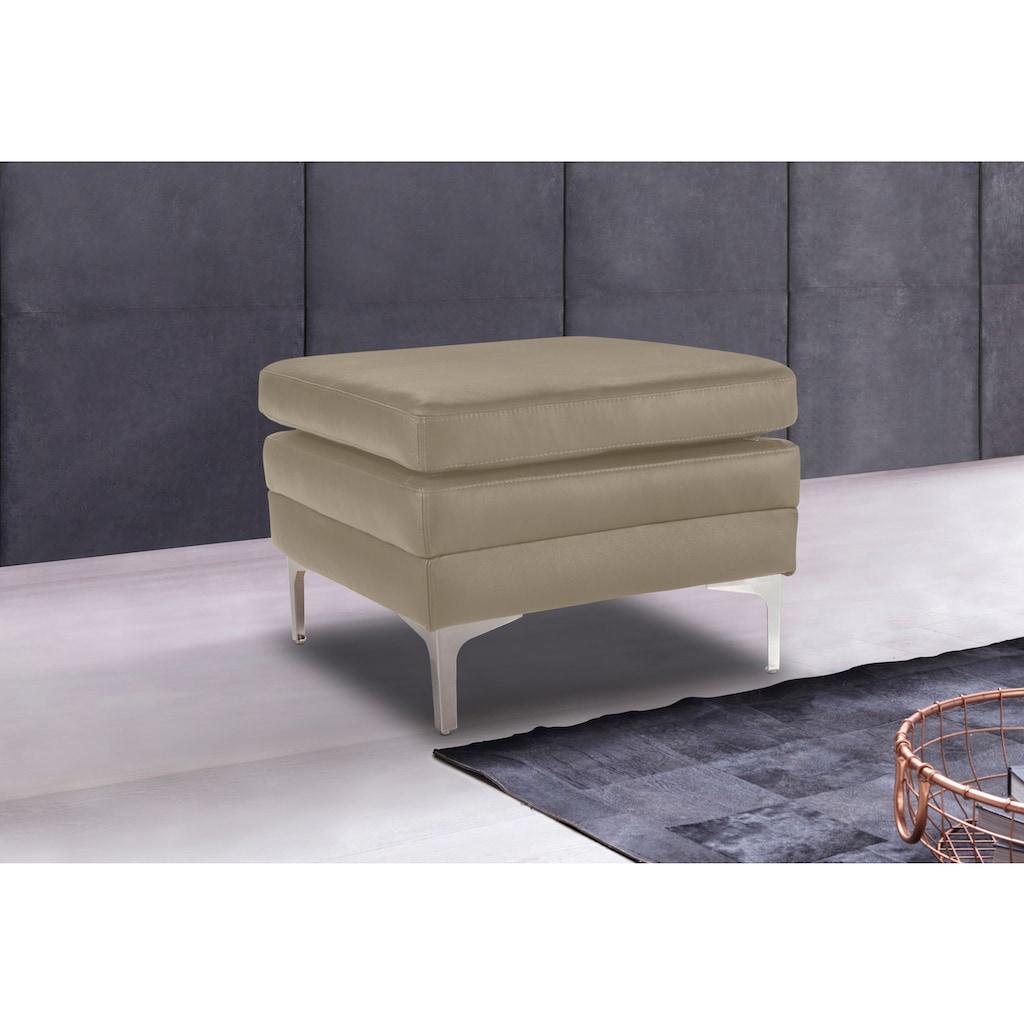 Places of Style Hocker »Twigo«, in Echtleder, mit hohem Sitzkomfort