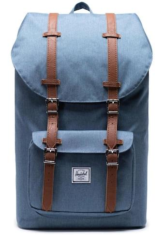 Herschel Laptoprucksack »Little America, Blue Mirage Crosshatch« kaufen