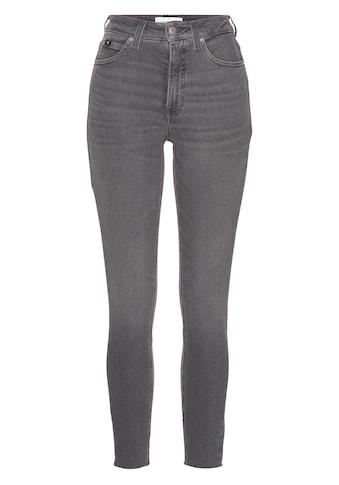 Calvin Klein Jeans Skinny-fit-Jeans »HIGH RISE SUPER SKINNY ANKLE«, mit CK Monogramm... kaufen