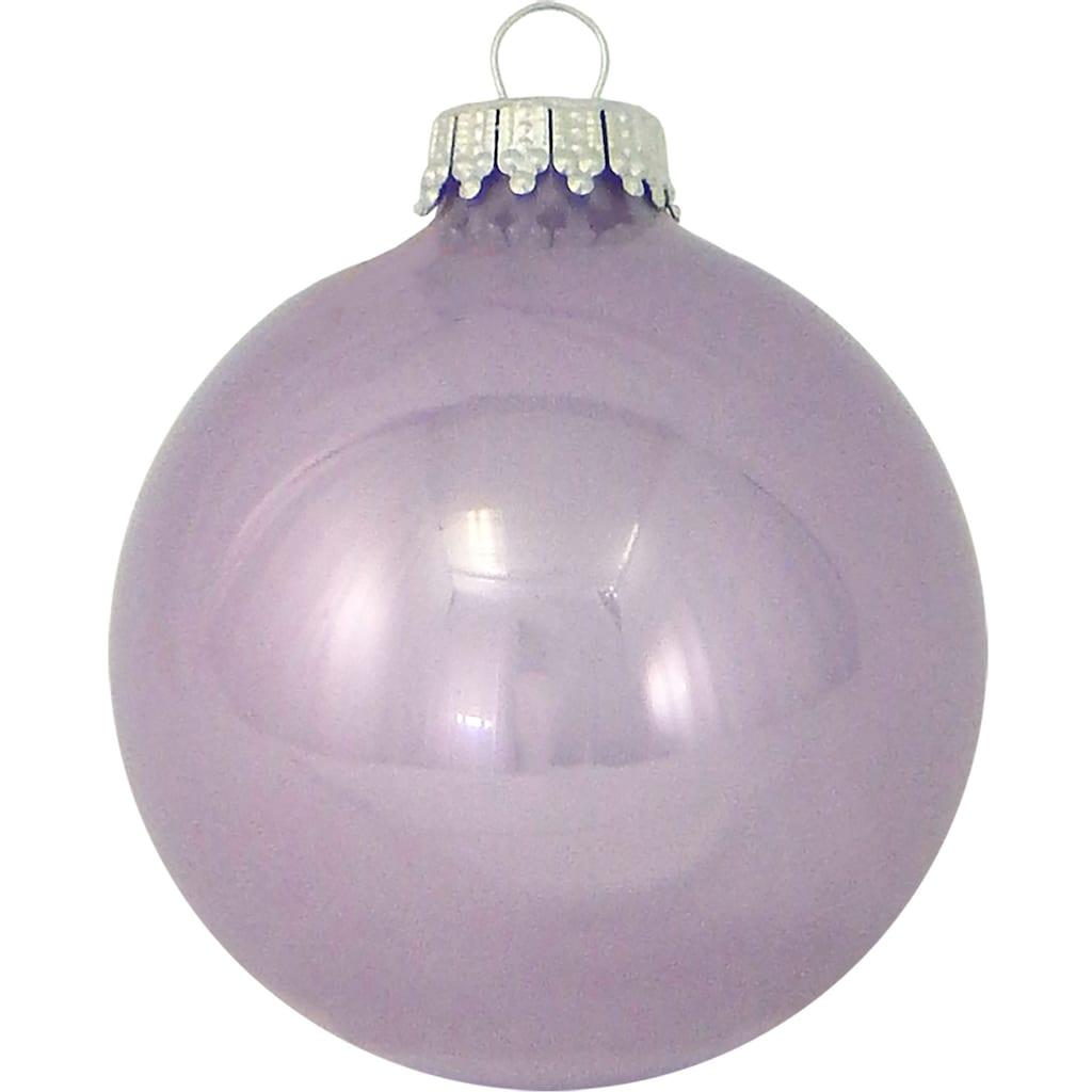 Krebs Glas Lauscha Weihnachtsbaumkugel »CBK80841«, (Set, 8 St.)