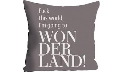 queence Kissenhülle »Wonderland«, (1 St.), mit Schriftzug kaufen