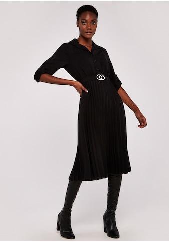 Apricot Plisseekleid »Apricot Circles Belt Pleated Midi Dress«, (mit Bindegürtel), mit... kaufen
