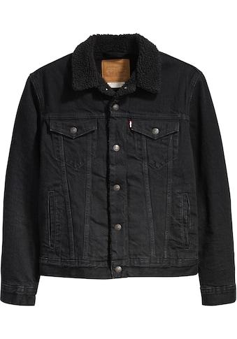 Levi's® Jeansjacke »TYPE 3 SHERPA TRUCKER«, mit Fellimitat kaufen