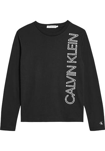Calvin Klein Jeans Langarmshirt »REFLECTIVE LINES LOGO«, reflektierender Druck kaufen