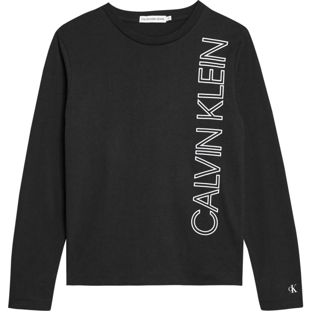 Calvin Klein Jeans Langarmshirt »REFLECTIVE LINES LOGO«, reflektierender Druck