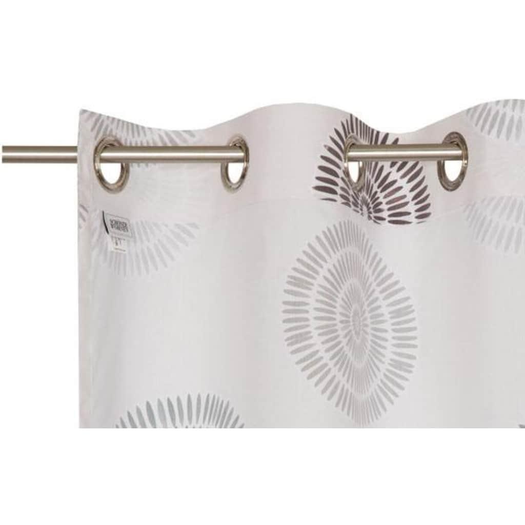 SCHÖNER WOHNEN-Kollektion Vorhang nach Maß »Daisy«, Ösenvorhang mit kreisförmigen Motiv