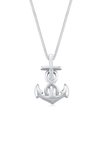 Elli Collierkettchen »Anker Infinity Liebe Kreuz 925 Silber« kaufen