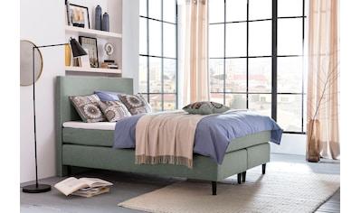 grüne betten Boxspringbett »Luisa«, mit Tonnentaschenfederkern-Matratze, Topper und... kaufen