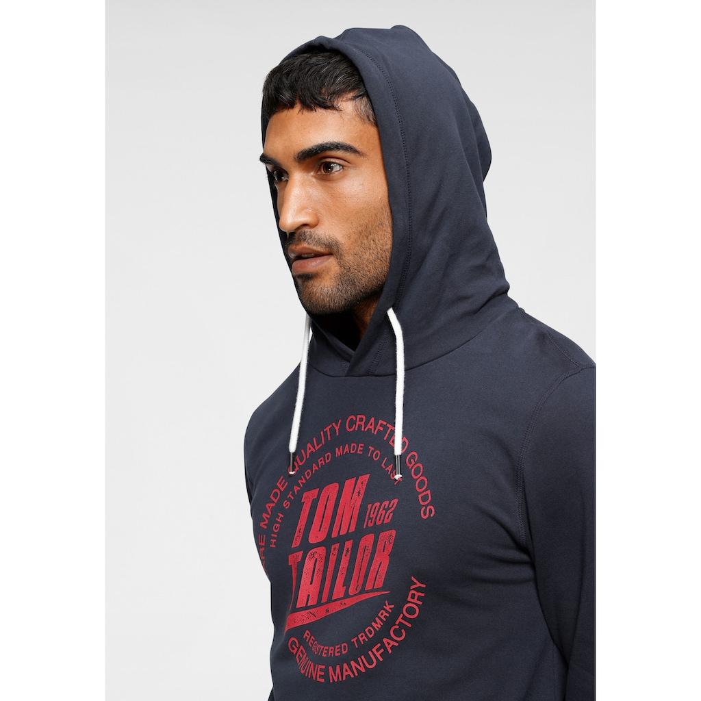 TOM TAILOR Kapuzensweatshirt, mit großem Logofrontprint