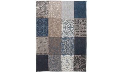 louis de poortere Teppich »MULTI«, rechteckig, 3 mm Höhe, Flachgewebe, Patchwork,... kaufen