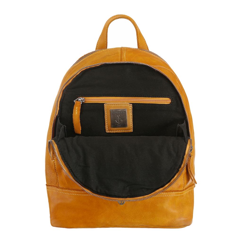 HARBOUR 2nd Cityrucksack »B3-7570 al-Meghan«, aus Leder mit typischen Marken-Anker-Label und Schmuckanhänger