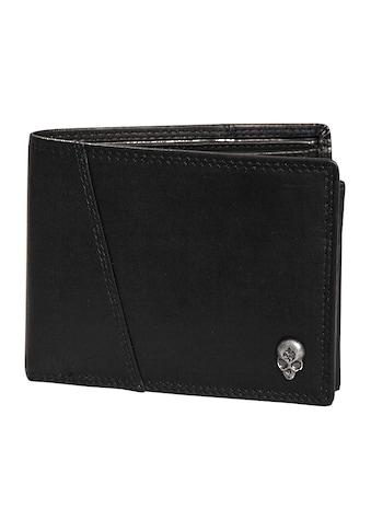JACK'S INN 54 Geldbörse »Bramble«, aus Leder mit cooler Totenkopf Applikation in... kaufen