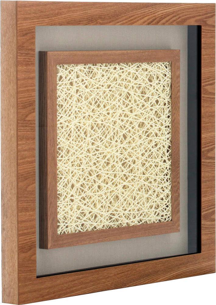 Wandbild »Holzkunst Carré III« | Dekoration > Bilder und Rahmen > Bilder | Braun